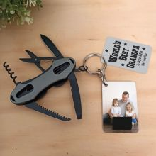 Personalised Grandpa Multi Tool with Photo tag