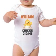 Chics Dig Me Easter Baby Bodysuit