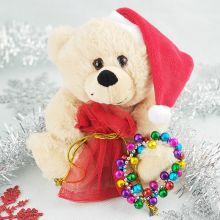 Christmas Bear with Jingle Bell Bracelet