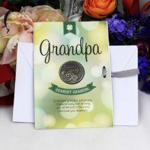 Grandpa Lucky Coin Card