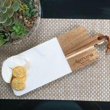 60th Birthday Engraved Cheese Board Marble/Acacia