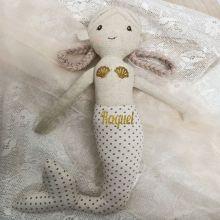 Personalised Linen Mermaid Doll 40cm