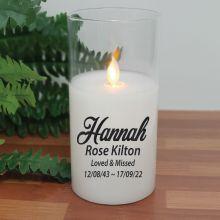 Personalised Memorial LED Glass Jar Candle