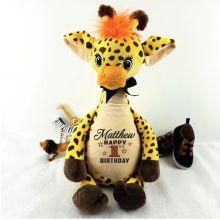 Personalised Birthday Giraffe Cubbie Plush