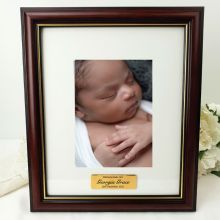 Baby Classic Wood Photo Frame 5x7 Personalised Message