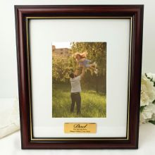 Dad Classic Wood Photo Frame 5x7 Personalised Message