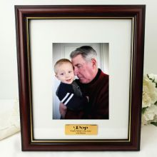 Poppy Classic Wood Photo Frame 5x7 Personalised Message