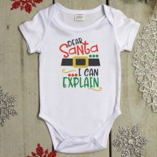 Dear Santa Christmas Baby Bodysuit