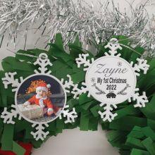 My 1st Christmas Snowflake Photo Ornament