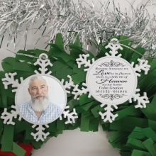 Memorial Christmas Snowflake Ornament - Our Home