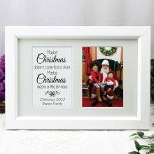 Christmas Photo Frame Typography Print 4x6 White