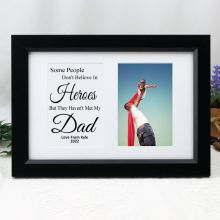 Dad Photo Frame Typography Print 4x6 Black