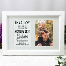 Godfather Photo Frame Typography Print 4x6 White
