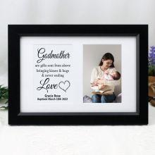 Godmother Photo Frame Typography Print 4x6 Black