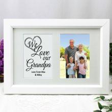 Grandpa Photo Frame Typography Print 4x6 White
