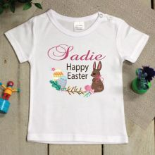 Personalised Toddler Easter Shirt - 1-2 Years - Vintage Bunny