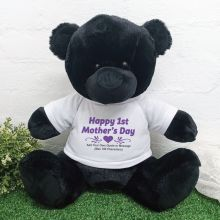1st Mothers Day Personalised Bear Black 40cm