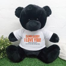 Naughty Love You Valentines Bear - 40cm Black