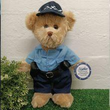 Policeman Bear with Personalised Badge Plush 30cm