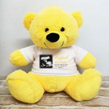 Personalised Memorial Photo Teddy Bear 40cm Yellow