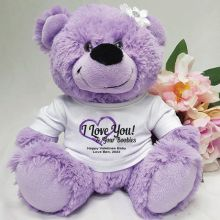 Love Your Naughty Bits Valentines Bear - Lavender