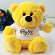 Love Your Naughty Bits Valentines Bear - Yellow