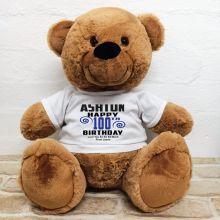 Personalised 100th Birthday Bear Brown 40cm