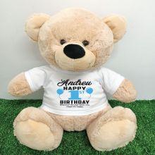 Personalised 1st Birthday Bear Cream 40cm