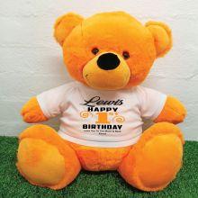 Personalised 1st Birthday Bear Orange 40cm