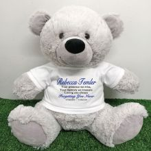 Personalised Memory Teddy Bear 40cm Grey