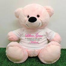 Personalised Memory Teddy Bear 40cm Light Pink
