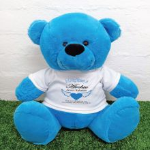 In Loving Memory Teddy Bear 40cm Bright Blue
