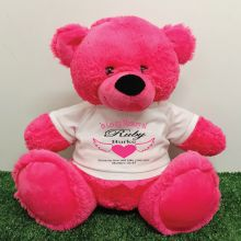 In Loving Memory Teddy Bear 40cm Hot Pink