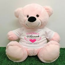 In Loving Memory Teddy Bear 40cm Light Pink