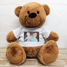 Personalised Photo Teddy Bear 40cm Brown