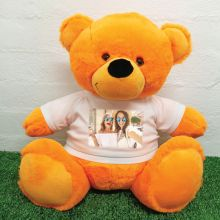 Personalised Photo Teddy Bear 40cm Orange