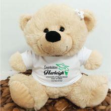 Personalised Graduation Bear Cream Plush