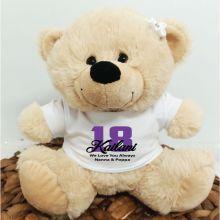 18th Teddy Bear Cream Personalised Plush