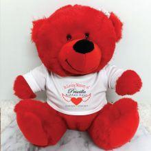 Personalised In Loving Memory Bear Red Plush