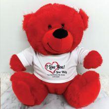Personalised Naughty Bits Bear Red Plush