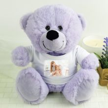 Personalised Photo T-Shirt Teddy Bear - Lavender