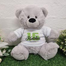 16th Birthday Bear Grey Plush 30cm