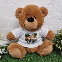Personalised Photo Bear Brown 30cm