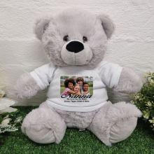 Personalised Photo Bear Grey 30cm
