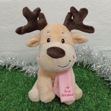 1st Christmas Baby Reindeer Pink