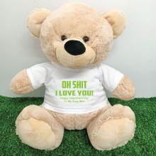 Naughty Love You Valentines Bear - 40cm Cream
