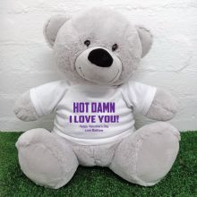 Naughty Love You Valentines Bear - 40cm Grey