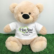 Valentines Bear Love Your Naughty Bits - 40cm Cream