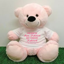 Valentines Bear You may Be A - 40cm Light Pink