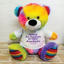 Valentines Bear You may Be A - 40cm Rainbow